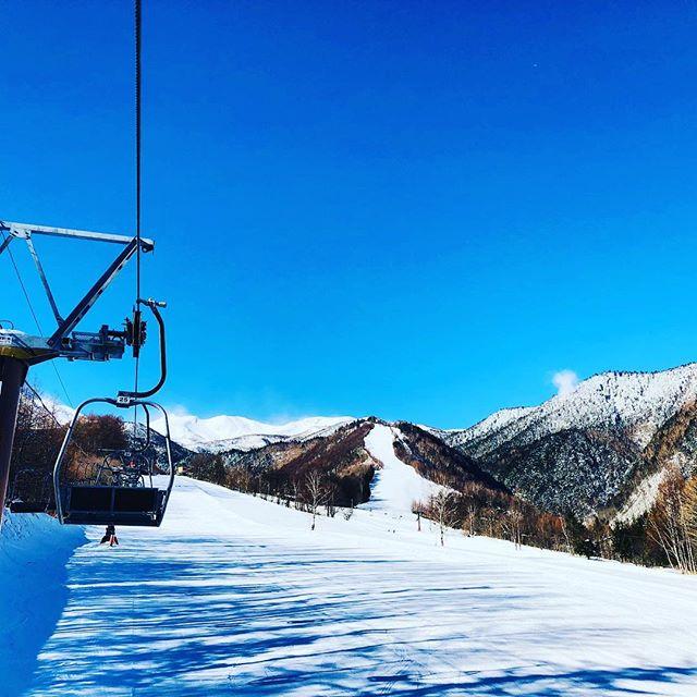 【残念なお知らせ】下界の皆さん。お山はキレイです。無風のスキー日和。