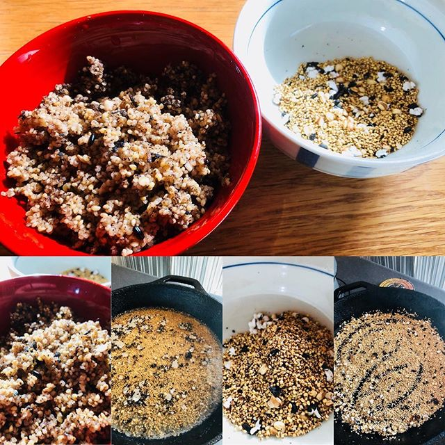 とある事情で雑穀が大量に余っているので、煎ってみた。ポリポリとつまみにいい感じ。煎ったのを水入れて炊けばご飯になるし。このスタイルはブッシュクラフトでも使えそう。