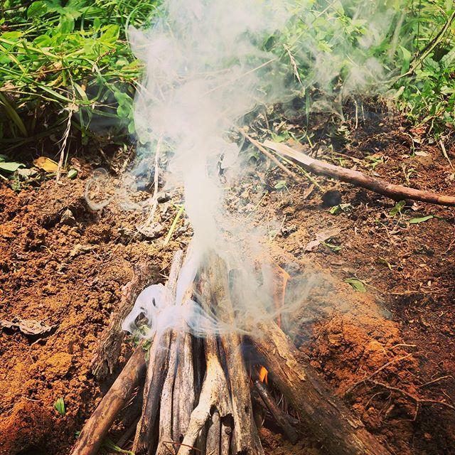 そして、ヤブ蚊が多いので、火は虫除け。
