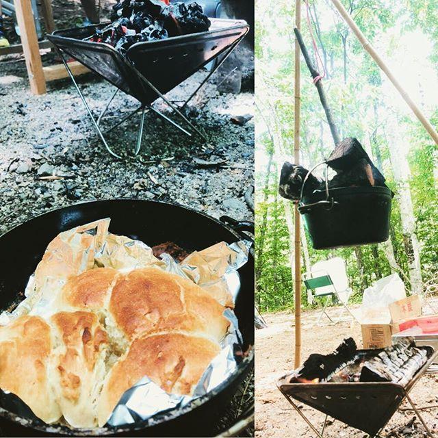 今日のお昼はダッチオーブンぱん。#ダッチオーブン #パン